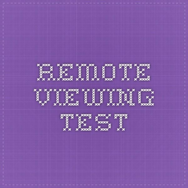 Remote Viewing Test