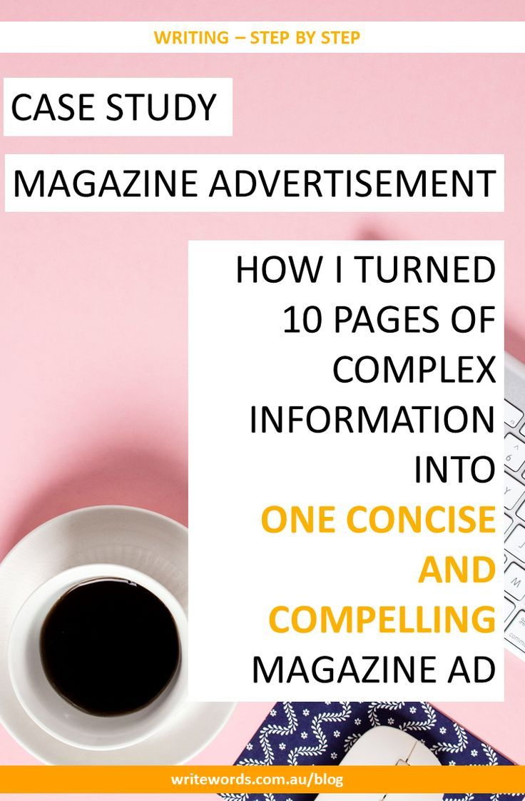 How I work around complex subject matter and information-overload to craft a concise and compelling magazine ad. #copywriting #concise #compelling