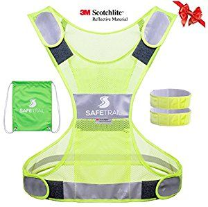 Amazon.com : Reflective Running Vest, Reflective Vest for Cycling Dog Walking Motorcycle, 3M Scotchlite Reflective Running Gear, Safety Vest Reflective with Pocket & Reflective Sport Armband for Men Women Children : Sports & Outdoors