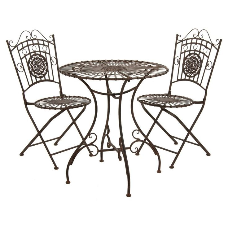 17 best ideas about wrought iron chairs on pinterest for Wrought iron cafe chairs