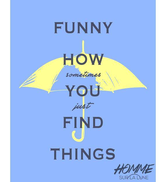 Yellow Umbrella Print how I met your mother by HommeSurLaLune