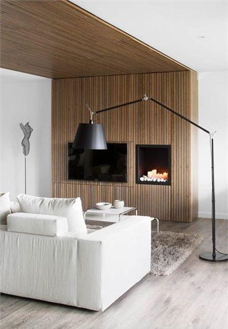#woodcladding #fireplace #white