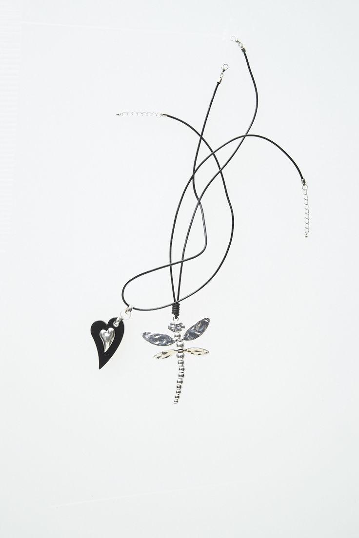 Black Double Heart & Firefly Necklaces  #mysize #plussize #fashion #plussizefashion #summer #newarrivals #outfit