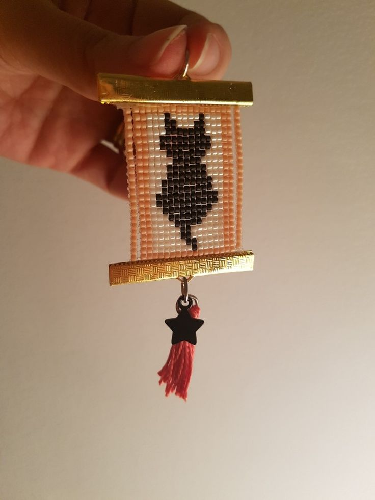 Copied from a pinterest model. This is a pendent made of woven seed beads.