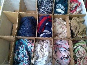 Comment ranger ses écharpes? DIY mini-étagère
