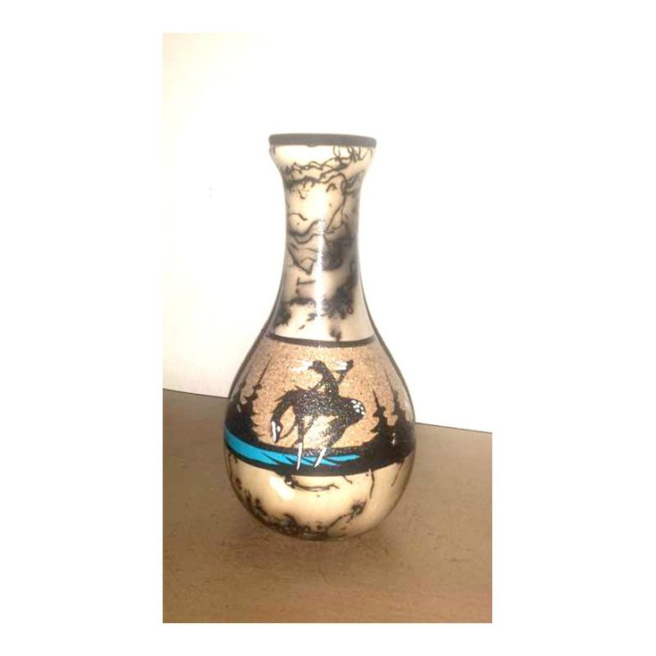 Vintage HORSE HAIR Vase,Southwestern Vase,New Mexico,Horse Vase,Horse Hair…
