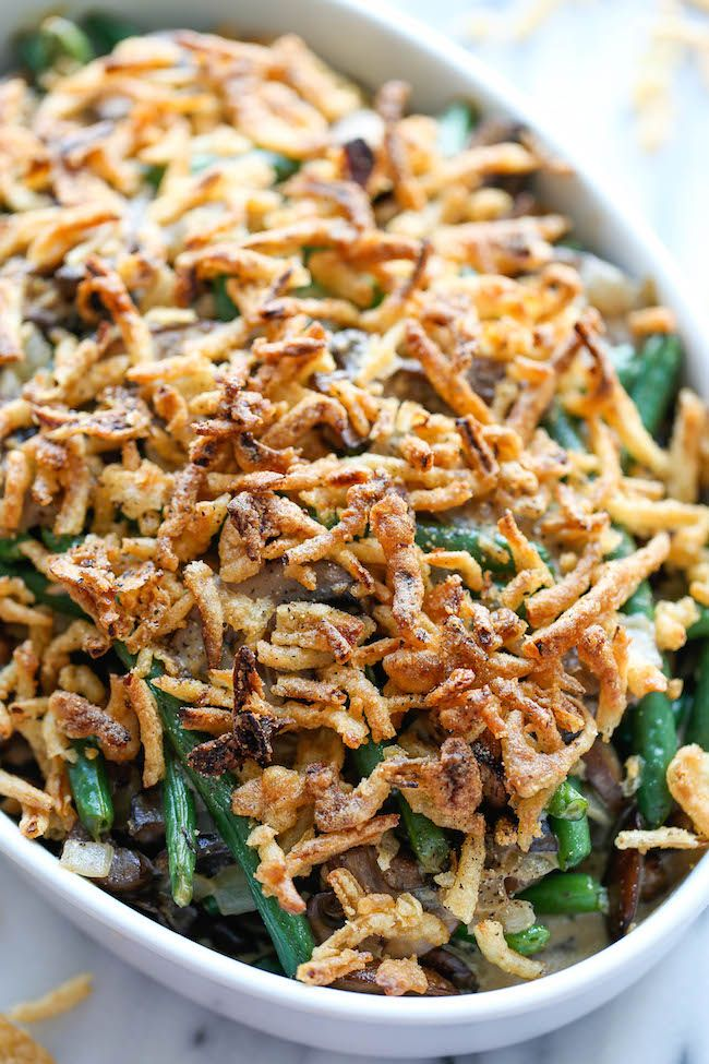 Easy Green Bean Casserole - The easiest, creamiest green bean casserole ever. Even the pickiest of eaters will be begging for seconds!