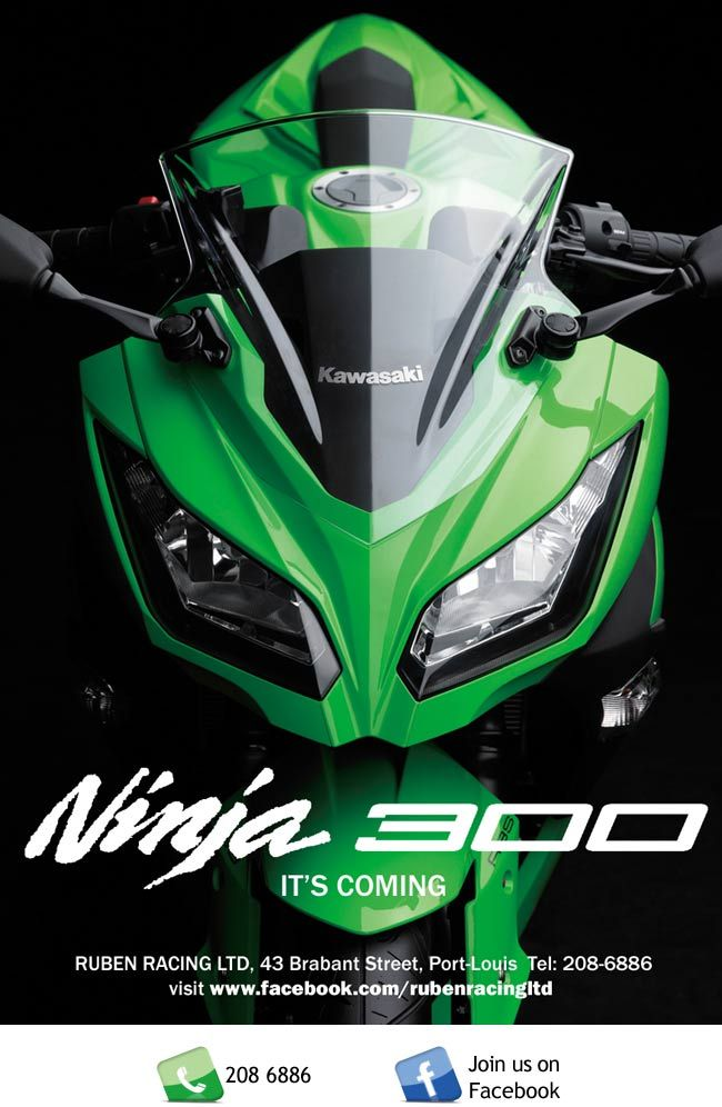 Ruben Racing Ltd - Kawasaki Ninja 300 Launch. Info: 208 6886