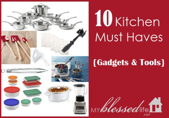 10 Kitchen Must Haves {Gadgets & Tools}: Kitchen Gadgets, Fun Recipes, Kitchen Must Haves, Kitchens Must Have, Kitchens Stuff, Kitchens Gadgets Tools, 10 Kitchens, Kitchens Gadgets Sets, Must Have Gadgets