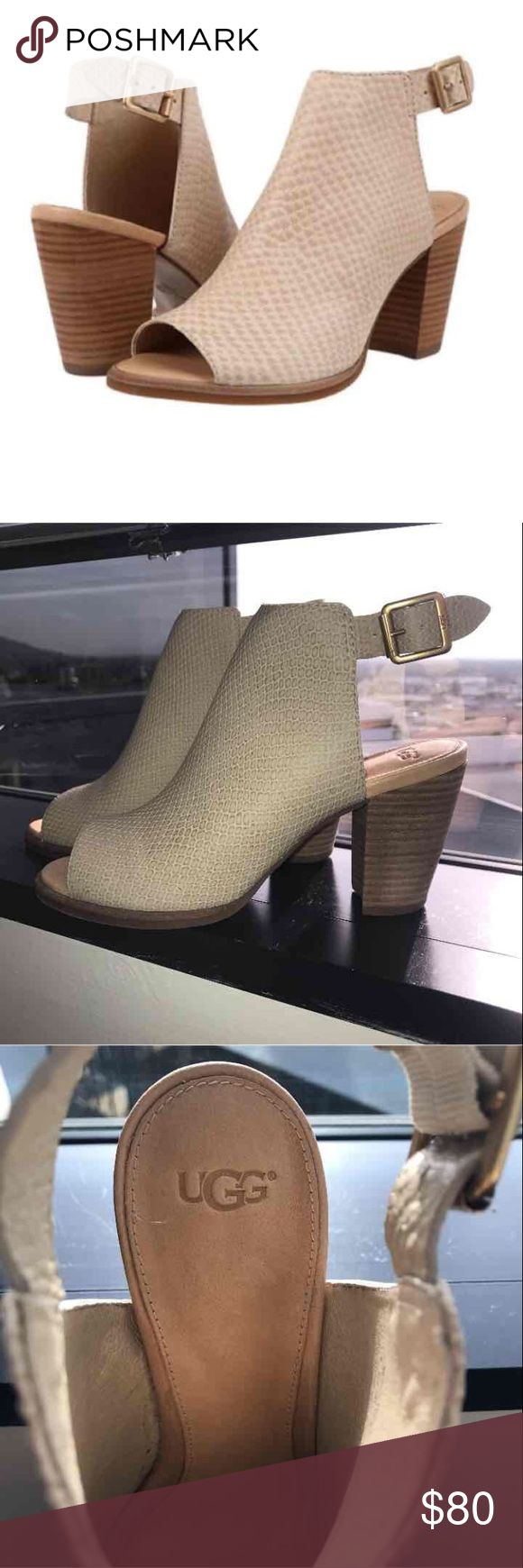 """✨🆕 UGG Australia Audrey Exotic Heels✨ Brand new never worn! Retail for $155. Leather Heel measures approximately 3 inches"""" Keep it exotically cool all summer long in this sassy bootie by UGG®. UGG Shoes Heels"""