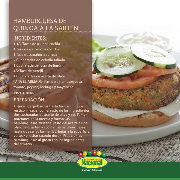 Hamburguesa de Quinoa. #ComidaSanaNacional
