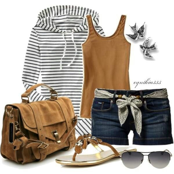 Love the stripes and brown... Dunno about long sleeves for summer tho
