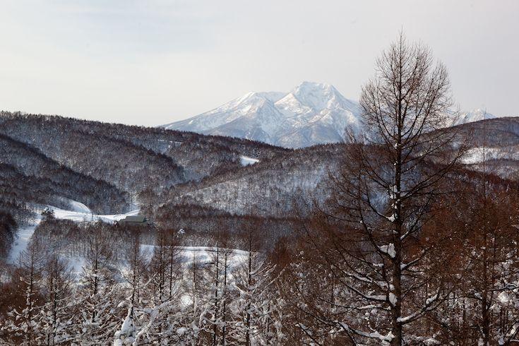 View from Madarao Ski Resort to Mt Myoko in Winter, Japan