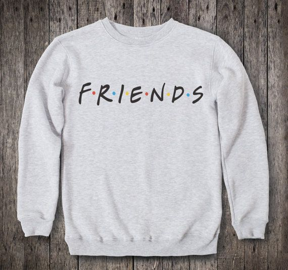 Friends TV Show Clothing Friends TV Show Sweatshirt Friends TV Show Sweater Friends tv Show Pullover Womens Jumper Mens Raglan tv Series 029