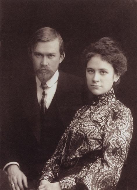 Кустодиев Б.М. с женой Юлией, 1915 год.
