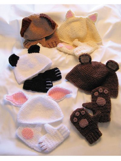 Cozy Critter Hats & Mittens for Kids Pattern Pack