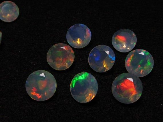 6 mm The Mos Beautifull So Gorgeous – WELO ETHIOPIAN OPAL – Round Faceted Sparkle Nice Fire Ever Pcs