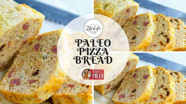 It's Paleo bread: pizza style! Liven up your gluten-free bread with your fave pizza toppings.