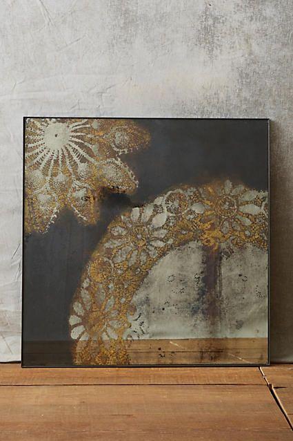 Lacy Bloom Print Mirror - anthropologie.com