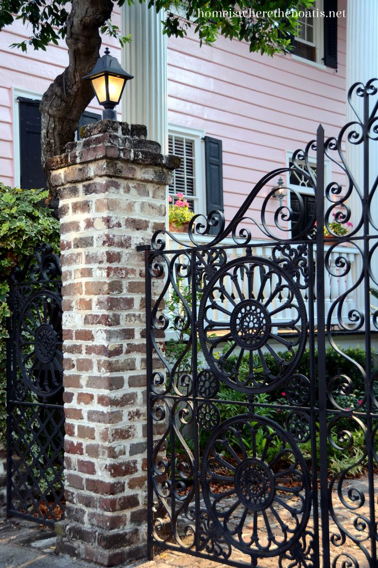 Pin antique garden gates in wrought iron an art nouveau style on - Find This Pin And More On Lowcountry Wrought Iron Gate