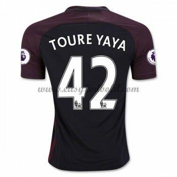 Fodboldtrøjer Premier League Manchester City 2016-17 Toure Yaya 42 Udebanetrøje