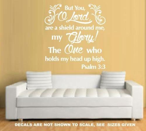 PSALM 3:3 BIBLE QUOTATION 1 STICKER MEDIUM VINYL DECAL – Vinyl Lady Decals