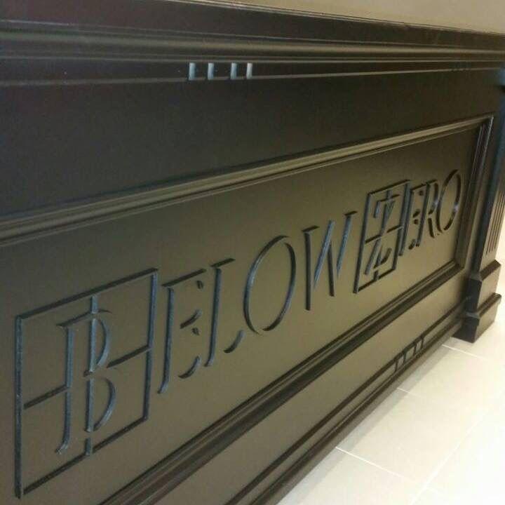 Wooden front desk of BZ Gallery