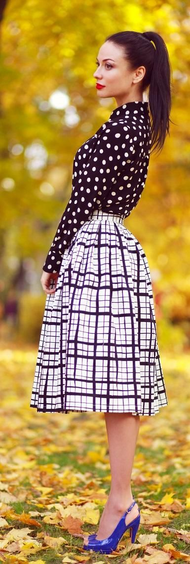 Inspiration | Classic prints; polka dots and monochrome checks.
