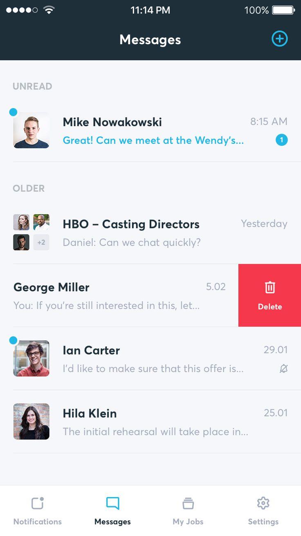 Conversations list