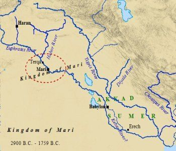 Abraham & Terah likely would've traveled up the Euphrates River. Thus they would have encountered the might empire of Mari on their journey. The story of Abraham is an epic tale of migration, danger, settlement and faith in God.