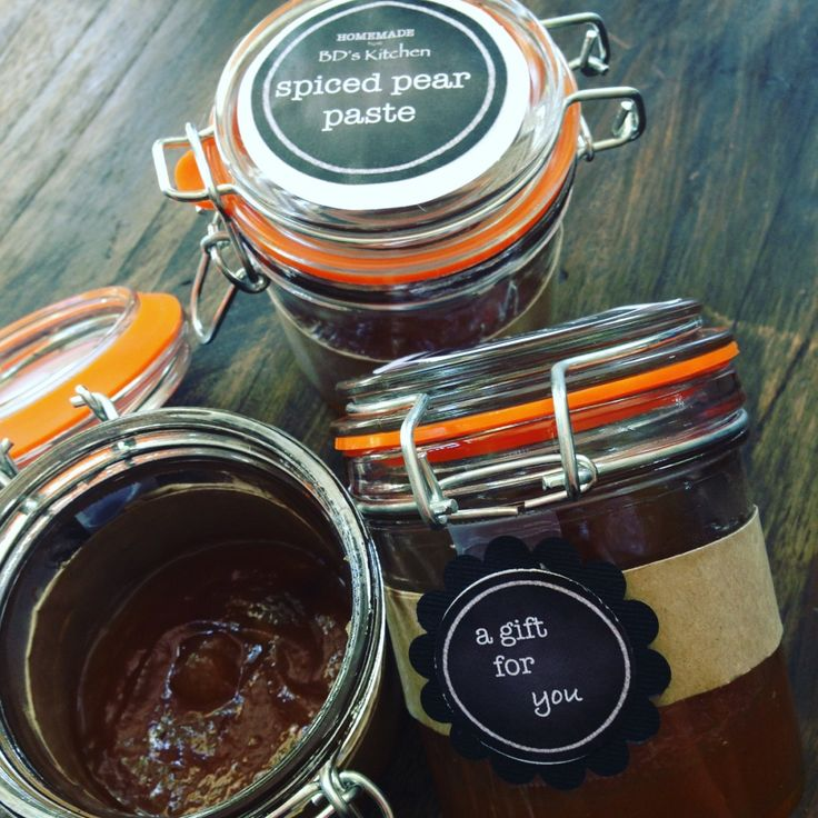Spiced Pear Paste - delicious addition to your cheese platter