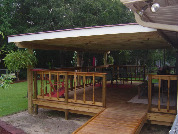 18 Best Back Porch Images On Pinterest Mobile Homes Carpentry And Covered Porches