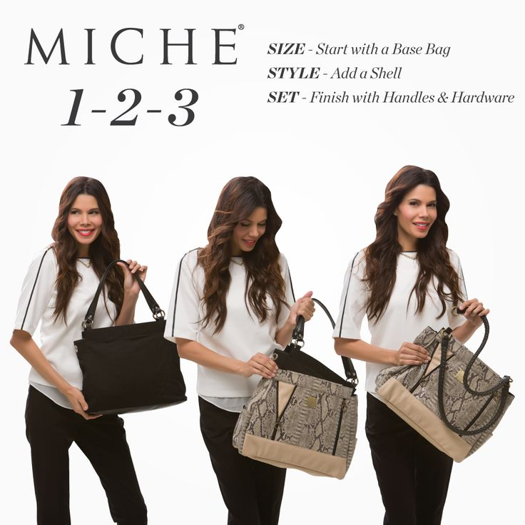 The Prima Base Bag - Miche interchangeability means you can give your bag a new look anytime you want in 3 seconds or less - fabulous. #michefashion #fashion #summerfashion