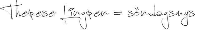 JELLICA - THERESE LINDGREN GÖR MINA SÖNDAGAR http://jellicas.se/2015/october/therese-lindgren-gor-mina-sondagar.html