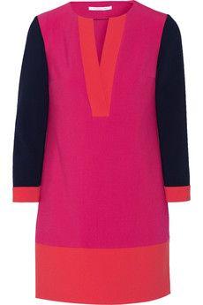 Diane von Furstenberg Millie color-block stretch-crepe mini dress | NET-A-PORTER