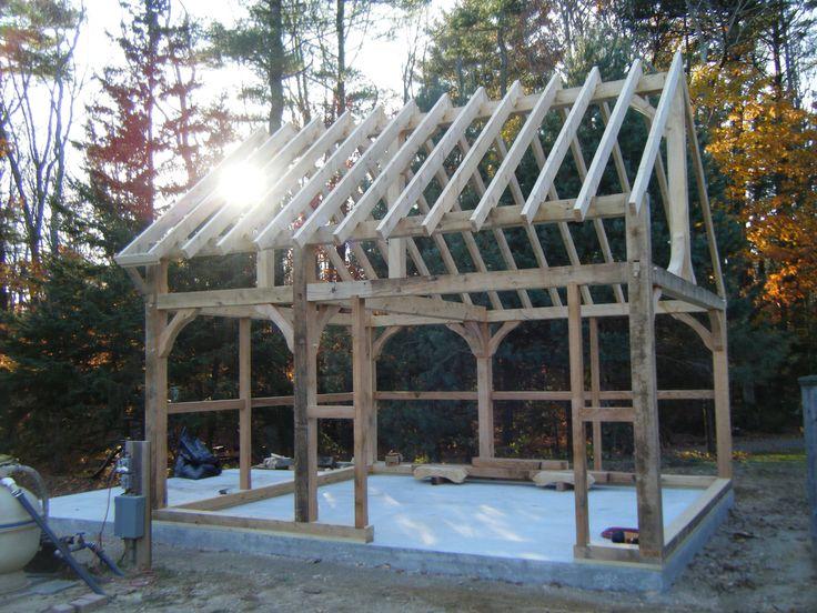 Timber Frame Shed Barre Mass