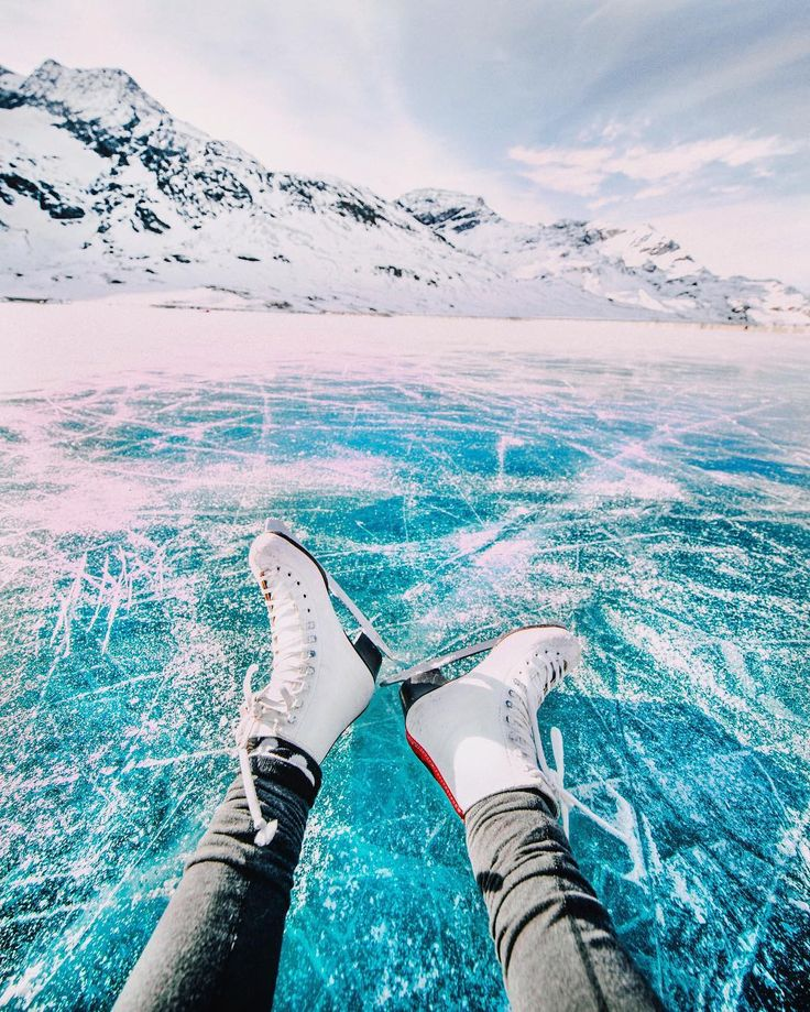 @terasasmith Ice skating on a giant natural frozen lake in Switzerland yesterday