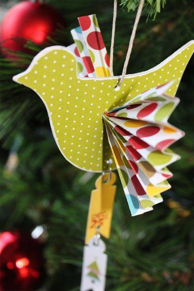 Cute Bird ornament with fan wings, love it!