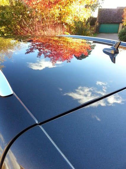 Google+ Autumn Leaf Reflection whilst taken whilst finishing this job.
