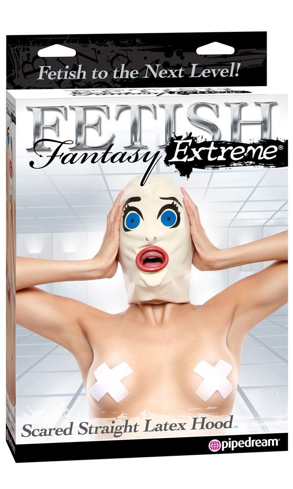 Take your BDSM role-playing fantasies to the extreme with the Fetish Fantasy Extreme Scared Straight Latex Hood. This hand-tailored hood is made from high-quality latex and can be worn by both sexes