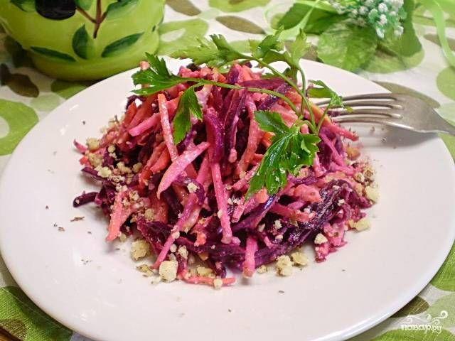"""Овощной салат """"Здоровье"""" - пошаговый рецепт с фото на ..."""