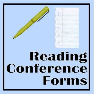 Free Printable Reading Conference Forms-good for holding students accountable for what's in their book box