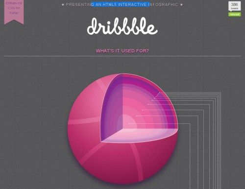 Dribbble Infographic