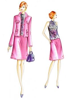 Free Sewing Patterns from Marfy!!! A Jacket, Skirt and Top.