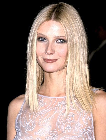 Gwyneth Paltrow's pin-straight hair