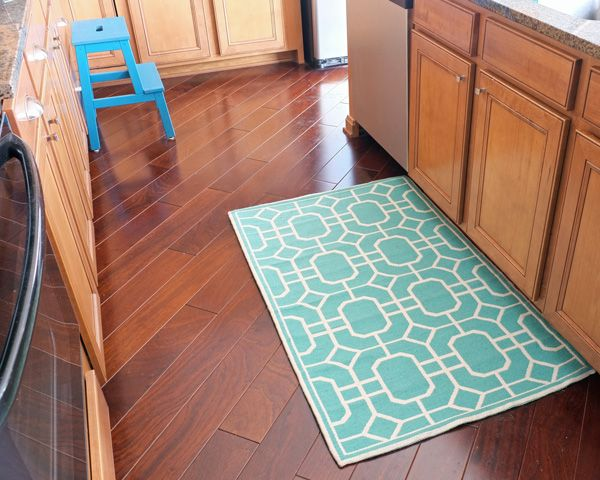 Turquoise Kitchen Rug from Target... My favorite! Too bad Target no longer has the size I want!
