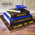 Graduation books cake  One Chapter Ends & Another Begins