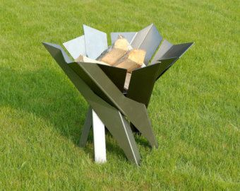 Stainess Steel Fire Pit PHOENIX FLOWER Contemporary by ArpeStudio