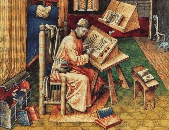 Scribe Jean Jean Miélot, 1400s, Brussels Royal Library, MS 9278, fol. 10r