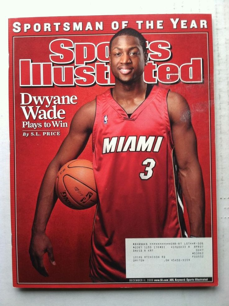 2006 DWYANE WADE MIAMI HEAT SPORTSMAN OF THE YEAR SOTY Sports Illustrated